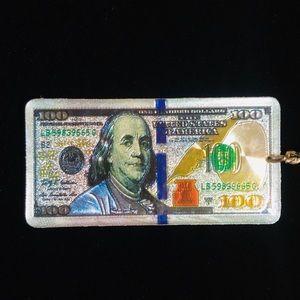 $100 Ben Franklin Dollar Bill Keychain